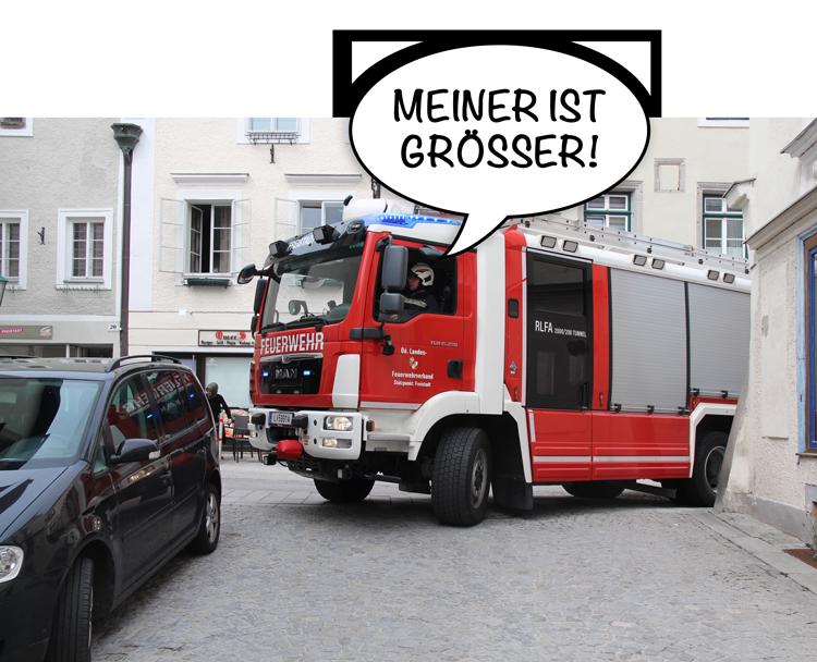Feuerwehrzufahrt Freistadt